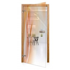 Celoskleněné otočné dveře čiré Caldo
