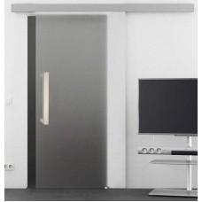 Celoskleněné posuvné dveře na stěnu matné SATINÁTO
