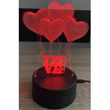 3D stolní lampa DD-017