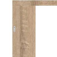Posuvné dveře na stěnu skladem Plné hladké Sonoma 70/197
